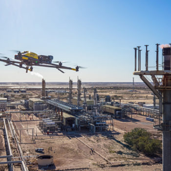 The Intel Falcon 8+ drone inspects Santos's Moomba hydrocarbon