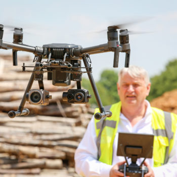 Ray Faulkner of thermal imaging company iRed with one of its drones.