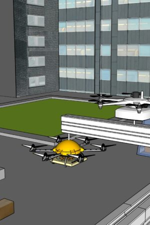 Drone_development_with_parking_pizza_delivery