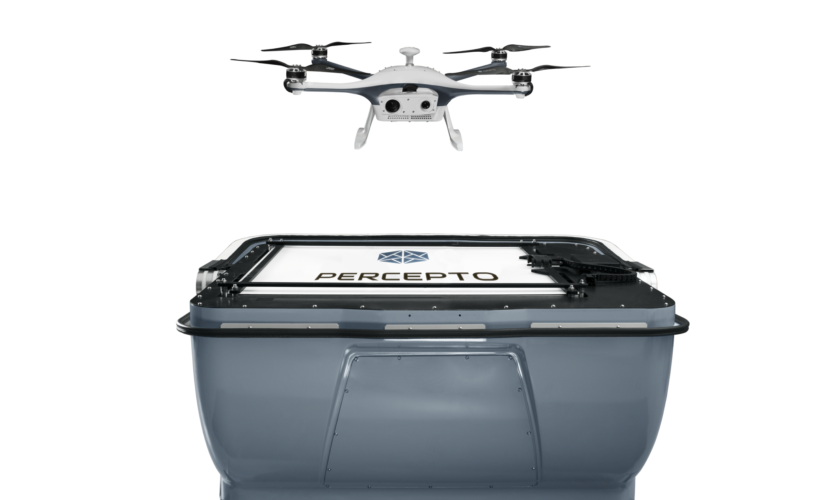 Percepto drone in a box – Take off