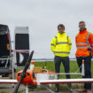 Ed Clay and Charles Tavner prepares for the Flylogix drone mission for National Grid surveillance