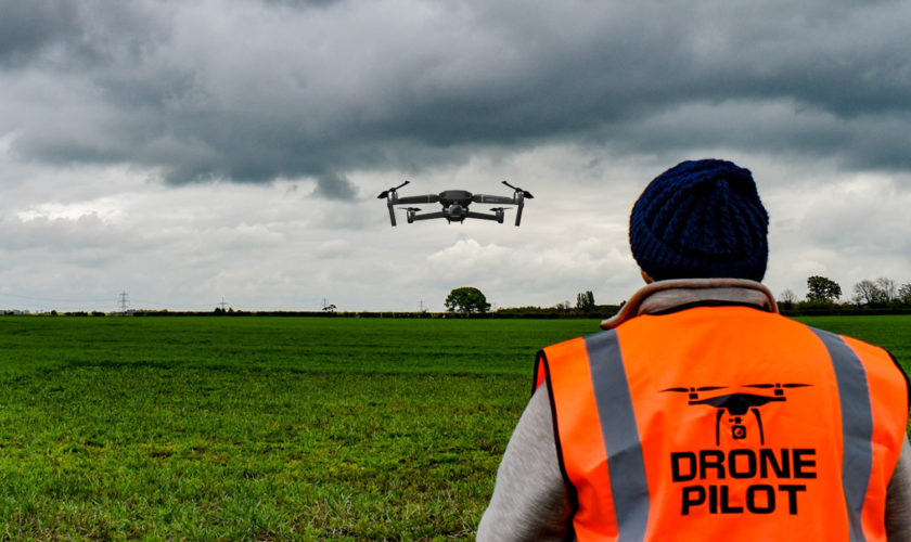 Flyby drone training
