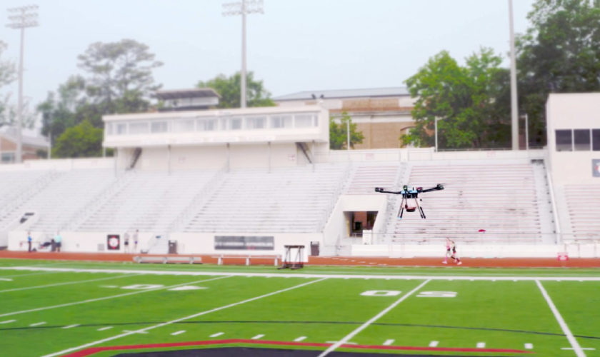 sanitaztion-drone-cleaning-football-field