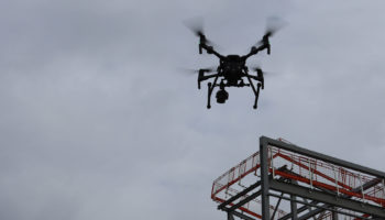 Networx3 Drones DJI Matrice 210 V2 RTK drone over public sector building site in Openshaw (2)
